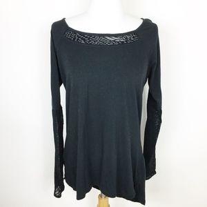 Calia Black Lace Open Back Workout Top sz. Large